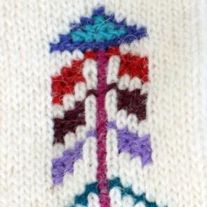 Rósavettlingar: détail vieux point de croix islandais