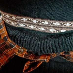 Détail tricoté costume féminin islandais