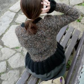 Peysufatapeysa brun et noir