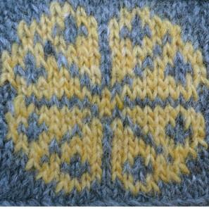 Kit tricot Brynja: gris + jaune