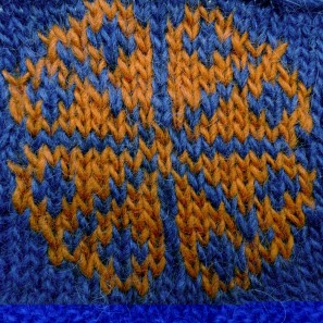 Kit tricot Brynja: bleu + orange