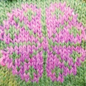 Kit tricot Brynja: vert + rose