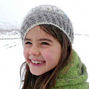 Béret Brynja gris Tricoteuse d'Islande
