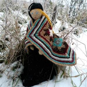 Le chat islandais de Noël dévorera-t-il Theodóra? Couverture jacquard intarsia islandais