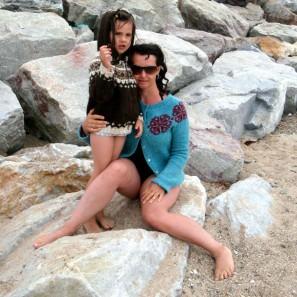 Pull islandais et plage normande
