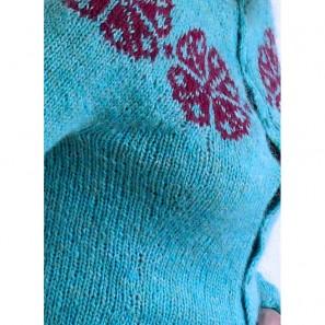 Modèle de tricot Brynja: détails pinces poitrine