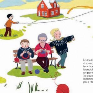 Retour d'Islande: tricoteurs islandaise