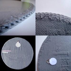 Couronne islandaise en tricot