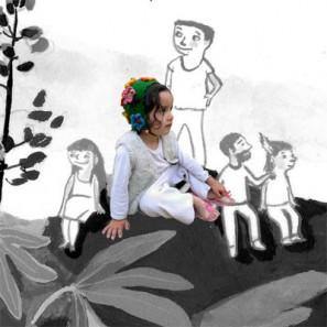 Bonnet vert foncé en Kambgarn