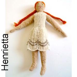 Kit Henrietta: poupée, culotte et combinaison (klukka)