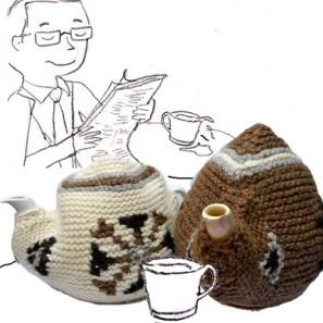 Tea cozy: motifs en jacquard islandais