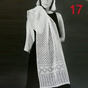 kit17 Châle blanc