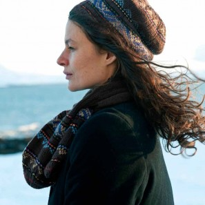 Icelandic Handknits Leaf scarf and slouchy cap