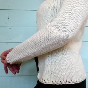 Détail coude formé avec des rangs raccourcis: bras plié