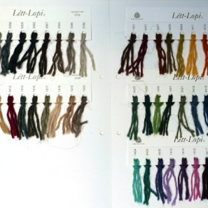 Léttlopi carte d'échantillons
