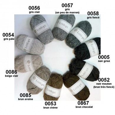 Léttlopi gris-noirs-bruns