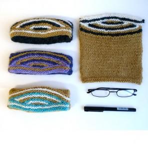 Swatch échantillon pull islandais lopi affection - étui lunettes mini-trousse (5)