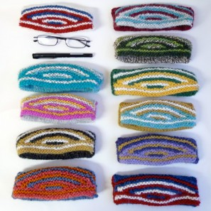 Swatch échantillon pull islandais lopi affection - étui lunettes mini-trousse (4)