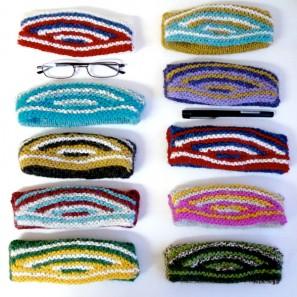 Swatch échantillon pull islandais lopi affection - étui lunettes mini-trousse (3)