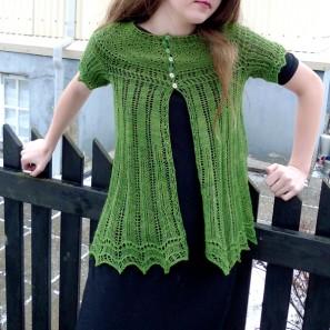 Alla gilet dentelle de tricot (13)