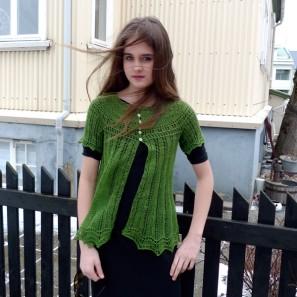 Alla gilet dentelle de tricot (11)