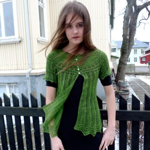 Alla gilet dentelle de tricot (10)
