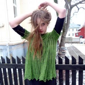 Alla gilet dentelle de tricot (7)
