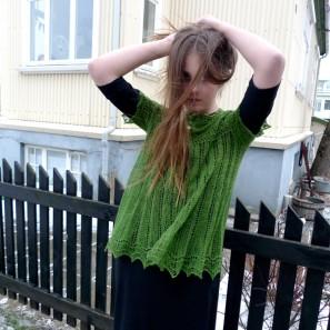Alla gilet dentelle de tricot (6)
