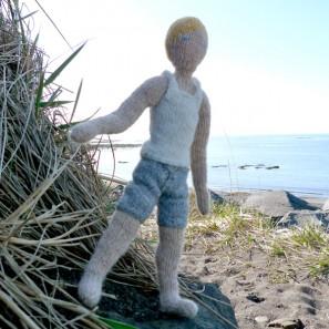 Bjarni poupée garçon islandaise en tricot (2)