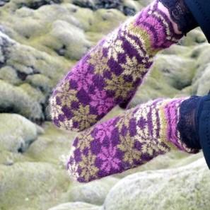 Rosir moufles traditionnelles islandaises (8)