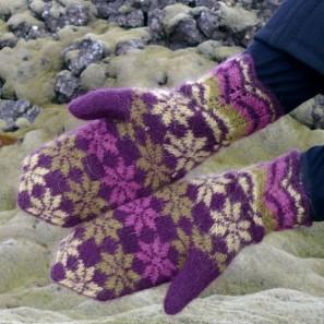 Rosir moufles traditionnelles islandaises (3)