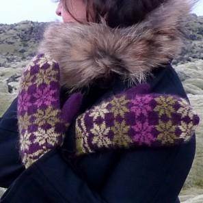 Rosir moufles traditionnelles islandaises (2)