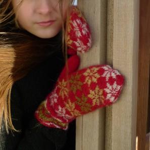 Rosir moufles traditionnelles islandaises (7)