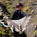 Icelandic Spring shawl It's muddy