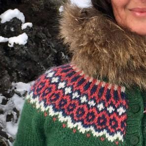 Gamaldags pull lopi traditionnel islandais - lopapeysa vert