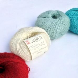 Gilitrutt Tvíband, 100% pure laine d'agneau islandais, fil dentelle retors, 2 brins (10)