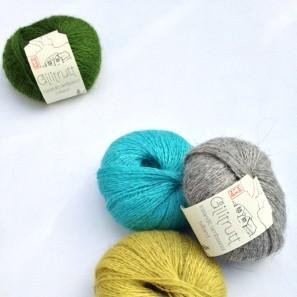 Gilitrutt Tvíband, 100% pure laine d'agneau islandais, fil dentelle retors, 2 brins (6)